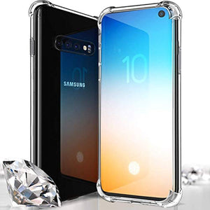 VOTALA Samsung Galaxy S10 Case, Protective TPU, Galaxy S10 Cover [Ultra Lightweight] Anti-Scratch Reinforced Corner Protection Bumper Case For Galaxy S10 2019 - Crystal Clear