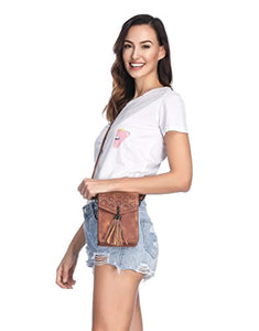 MINICAT Fringe Thicher Pocket Small Crossbody Cell Phone Purse Wallet For Women With Credit Card Slots