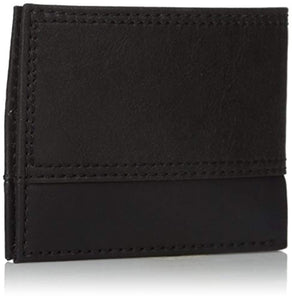 Dickies Mens Wallet with Chain - Leather Security Bifold Truckers Classic Slim Thin Single Fold with ID Window