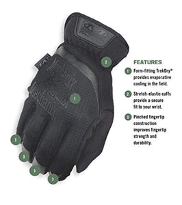 Mechanix Wear - FastFit Covert Tactical Touchscreen Gloves (Medium, Black)