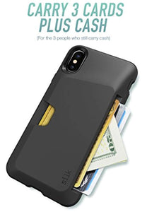Silk iPhone X / XS Wallet Case - Wallet Slayer Vol. 1 [Slim + Protective] Credit Card Holder for Apple iPhone 10 - Black Tie Affair