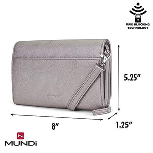 Mundi RFID Crossbody Bag For Women Anti Theft Travel Purse Handbag Wallet Vegan Leather