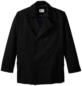 Haggar Men's Big-Tall Bedford Double-Breasted Peacoat