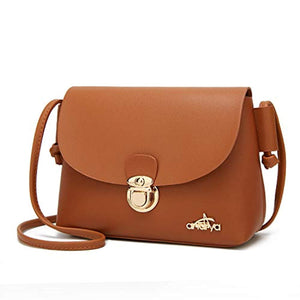Andrya Ladies Purses Leather Handbags Cross Body Shoulder Bags Wristlet and Clutches for Women Brown