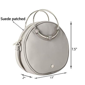 The Lovely Tote Co. Women's Ring Handle Cross Body Circle Bag Round Purse