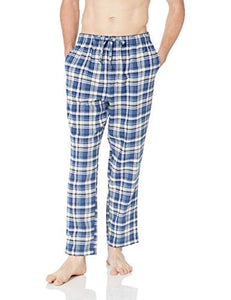 Nautica Men's Short Sleeve Top and Soft Flannel Pajama Pant Pj Set