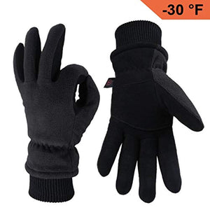 OZERO Winter Gloves -30°F Cold Proof Thermal Driving Glove - Insulated Cotton and Windproof Membrane, Warm Hands in Cold Weather for Men and Women