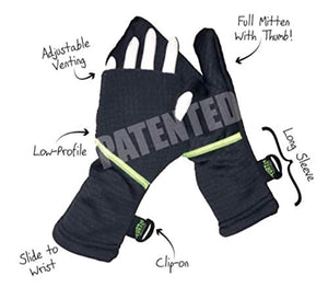 Turtle Gloves Heavyweight Convertible Running Mittens Provides Weather Protection
