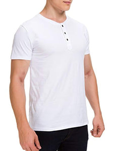 Boisouey Men's Casual Slim Fit Short Sleeve Henley T-Shirts Cotton Shirts