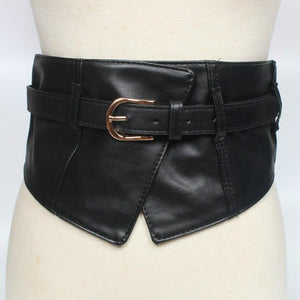 Women's Ultra Wide Waist Cover Wild Decoration Korean Elastic Belt Belt