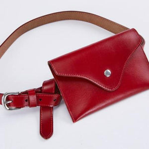 New Korean Pockets Leather Fashion Wallet Women's Thin Belt Dual-use Belt Girdle