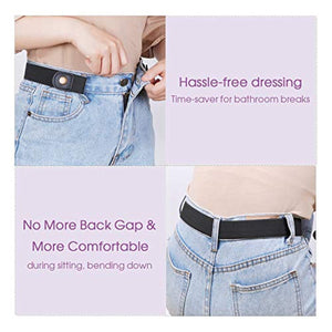 No Buckle Invisible Stretch Belts for Men/Women Belt for Jeans pants No Hassle,No Bugle