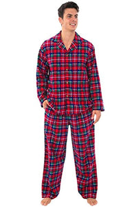 Alexander Del Rossa Mens Plaid Flannel Pajamas, Long Cotton Pj Set