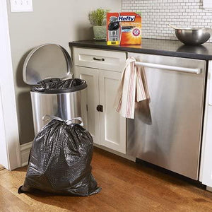 Hefty Ultra Strong Tall Kitchen Trash Bags, Blackout, Clean Burst, 13 Gallon, 80 Count