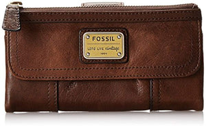 Fossil Women's Brown Leather Emory Wallet