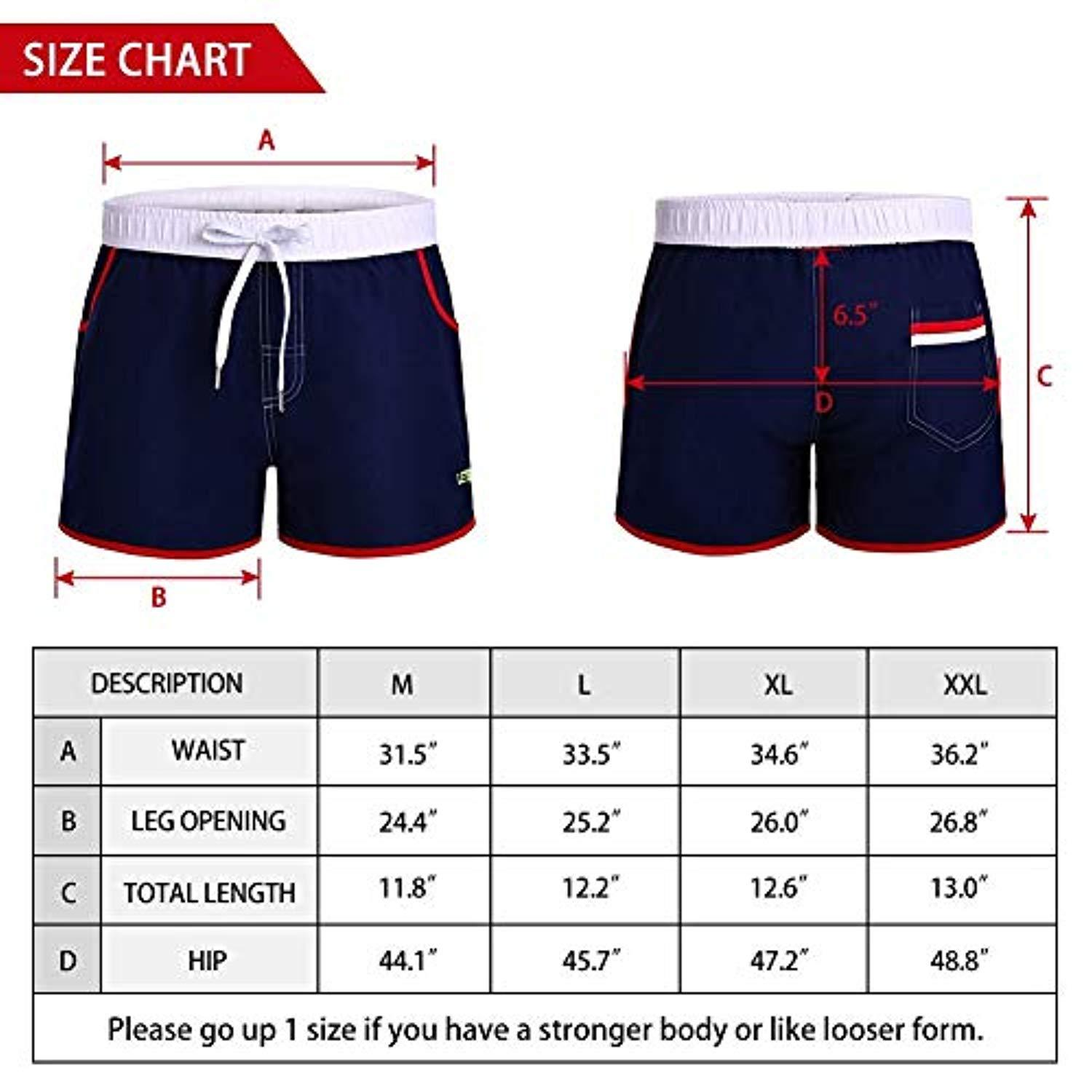 LETSQK Mens Swim Trunks Solid Quick Dry Surfing Bathing Suits