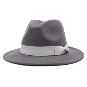 100% Wool Fedora Hats for Women Vintage Wide Brim Mens Fedora Cap