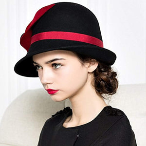 Maitose Women's Wool Felt Flowers Church Bowler Hats