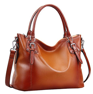 Heshe Womens Genuinne Leather Handbags Tote Top Handle Bag Shoulder Bag for Women Crossbody Bags Ladies Designer Purse
