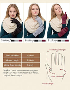 Womens Screen Touch Gloves Winter Thick Warm Lined Smart Texting Gloves