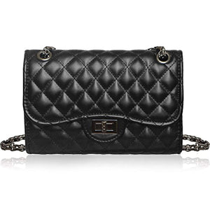 Solarfun Classic Crossbody Shoulder Bag for Women Quilted Purse With Metal Chain Strap