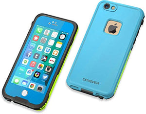 "CellEver iPhone 6 / 6s Case Waterproof Shockproof IP68 Certified SandProof Snowproof Full Body Protective Cover Fits Apple iPhone 6 and iPhone 6s (4.7"") - Sky Blue/Lime Green"
