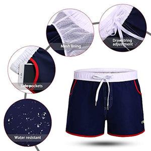 LETSQK Men's Sexy Swimwear Shorts Surf Swimsuit Swim Trunks