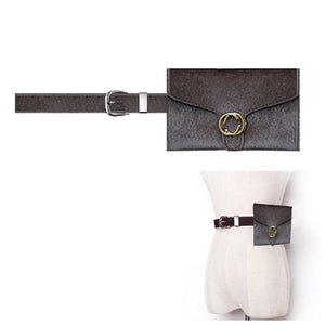 Women Velvet Hip Belt simple Fanny Pack,VITORIA'S GIFT removable Belt with MINI Purse Travel Cell Phone Bag