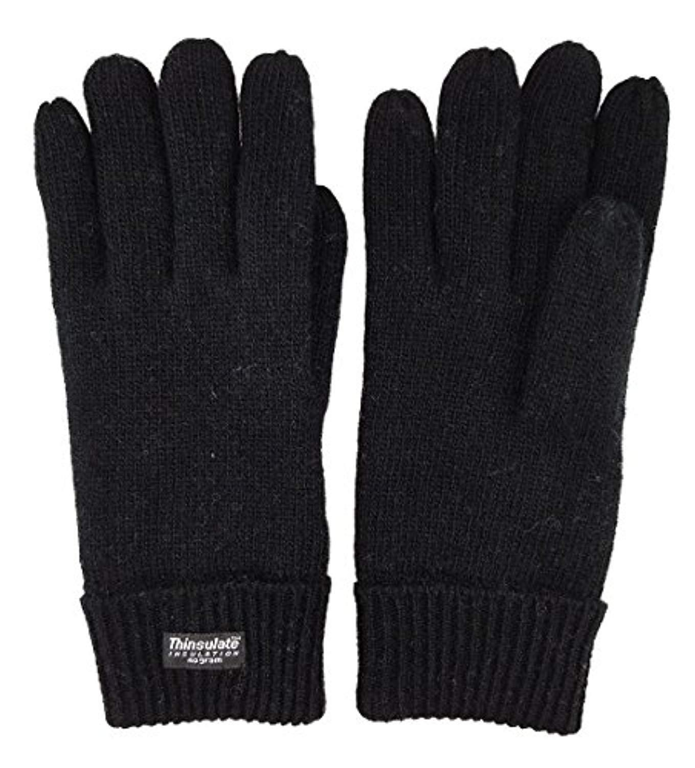 Thinsulate Extreme Thermal lined knitted Gloves black Small Medium One Size