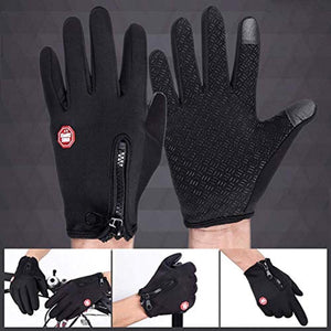 Pudolla Touch Screen Running Sports Gloves Anti-Slip Winter Windproof Water Resistant Gloves for Snowboarding Cycling Driving Texting Women Men
