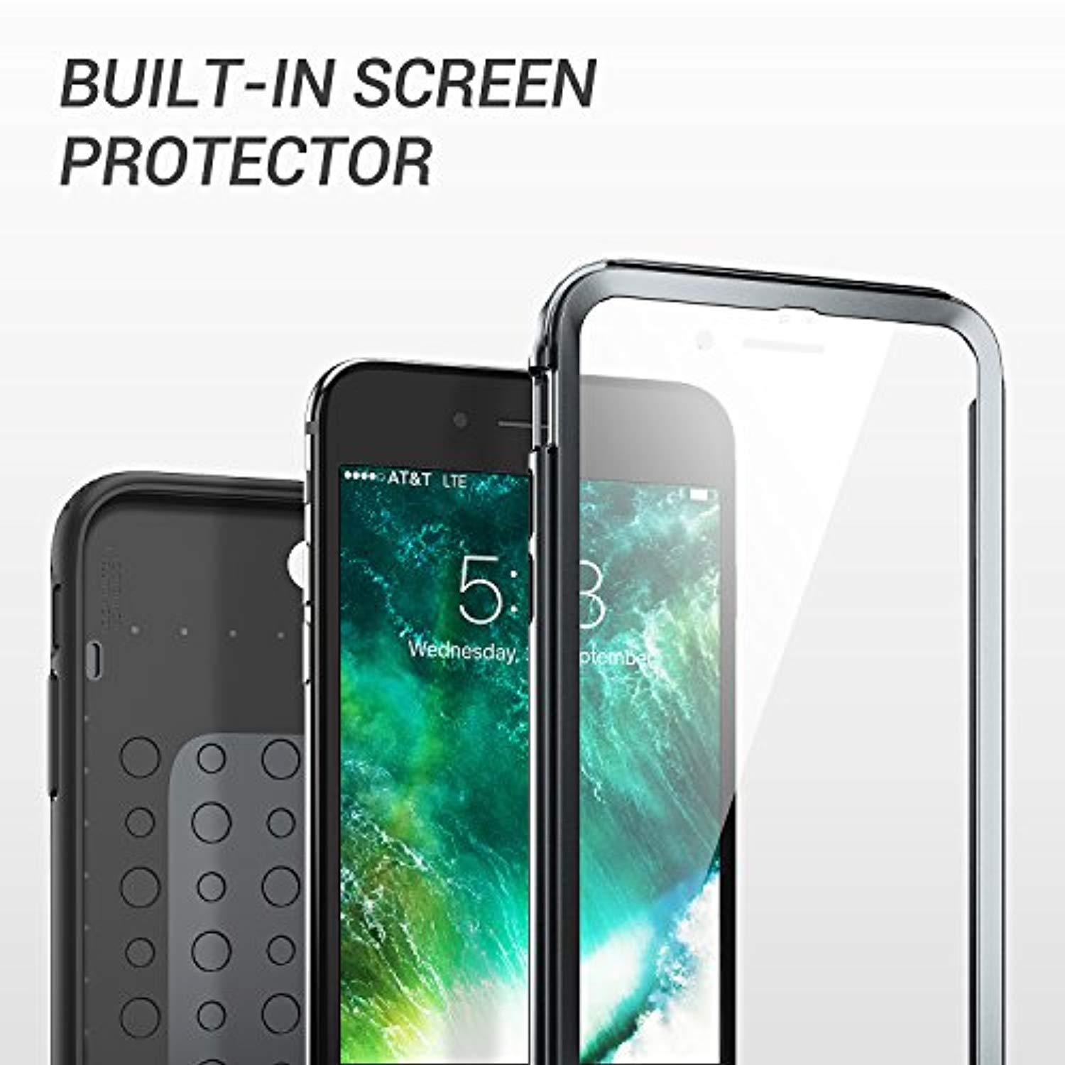 5.5 Inch Gunmetal Full Body Rugged with Built-in Screen Protector Heavy Duty Protection Slim Fit Shockproof Cover for Apple iPhone 8 Plus YOUMAKER Case for iPhone 8 Plus /& iPhone 7 Plus 2017