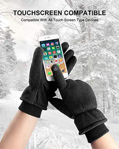 anqier Winter Gloves,-30℉(-34℃) Cold Proof Thermal 3M Thinsulate Warm Touchscreen Cold Weather Gloves Men Women for Smartphone Texting Cycling Riding Running Skiing Outdoor Sports