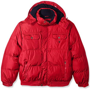 U.S. Polo Assn. Men's Puffer Jacket with Polar Fleece Lining
