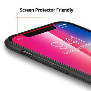 TORRAS Slim Fit iPhone Xs Case/iPhone X Case, Hard Plastic PC Ultra Thin Mobile Phone Cover Case with Matte Finish Coating Grip Compatible with iPhone X/iPhone Xs 5.8 inch, Space Black