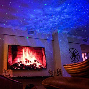 BlissLights Sky Lite - Laser Projector w/LED Nebula Cloud for Game Rooms, Home Theatre, or Night Light Ambiance - Classic (Green/Blue)