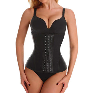 Waist Trainer Corset for Women Latex Long Torso Waist Training Cincher 9 Steel Boned Underbust Body Shapewear