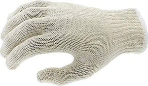 Magid Safety KnitMaster T1932 Gloves | 7-Gauge Ambidextrous Medium Weight Cotton/Polyester Blend Knit Gloves with an Insulated Liner - Large, Natural (12 Pairs)