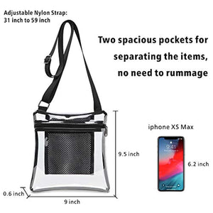 Clear Bag, F-color Clear Stadium Bag Purse for Women and Men
