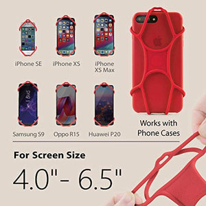 Universal Cell Phone Lanyard Holder, Silicone Neck Strap Smartphone Case for iPhone Xs Max XR X 8 7 6S Plus Samsung Galaxy S9 S8 Note 9 Pixel 3 XL, Phone Tie Series - Black