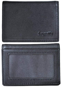 RFID Mens Slim Front Pocket Wallet Genuine Leather Bifold ID/Credit Card Holder