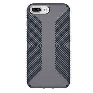 Speck Products Phone Case Compatible with Apple iPhone 8 Plus (Also fits 7 Plus and 6S Plus/6 Plus), Presidio Grip Case, Graphite Grey/Charcoal Grey
