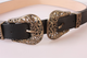 Double-headed Buckle Vintage Carved Fashion Ladies Pin Buckle Belt Thin Belt