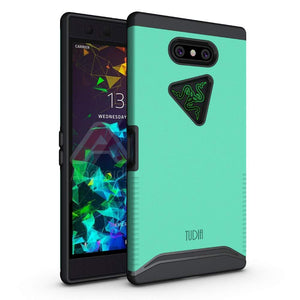 TUDIA Razer Phone 2 Case, [Merge Series] Dual Layer Heavy Duty Extreme Drop Protection/Rugged Phone Case for Razer Phone 2 [2018] (Matte Black)