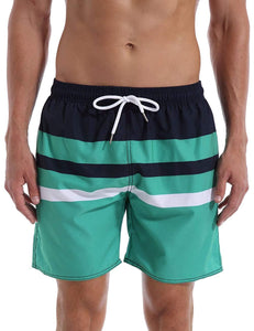 QRANSS Men's Quick Dry Swim Trunks Bathing Suit Beach Shorts