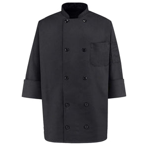 350 Chef Apparel  Pearl Buttons Chef Coat-Easy-Care Twill Chef Jacket for men