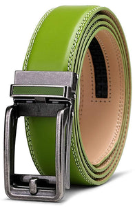 Men's Belt, Bulliant Leather Ratchet Belt for Men Dress with Click Buckle, Trim to Exact Fit,Big&Tall