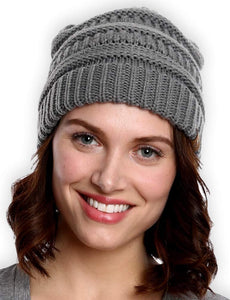 Tough Headwear Cable Knit Beanie - Thick, Soft & Warm Chunky Beanie Hats for Women & Men - Serious Beanies for Serious Style