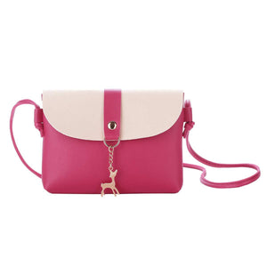 Small Crossbody Purse for Women With Pendant,PU Leather Crossbody Bag With Strap Cell Phone Bag for Girl