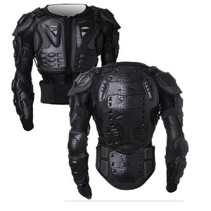 Motorcycle Full Body Armor Protector Pro Street Motocross ATV Guard Shirt Jacket with Back Protection Black 2XL