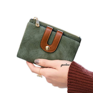 Women's RFID Bifold Leather Small Wallet Ladies Mini Purse with Coin Pocket,Soft Compact Thin Wallet